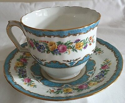 Crown Staffordshire Blue Tunis Large Breakfast Cup And Saucer Up To 4 Available