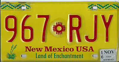 USA American licence plate, number plate, NEW MEXICO LAND OF ENCHANTMENT     E