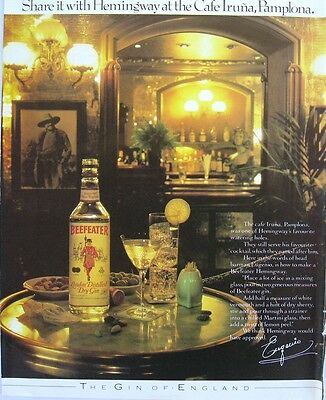 Beefeater Gin Print Ad 1982