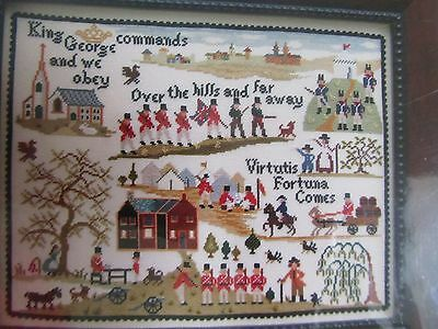 Over the Hills Cross stitch chart