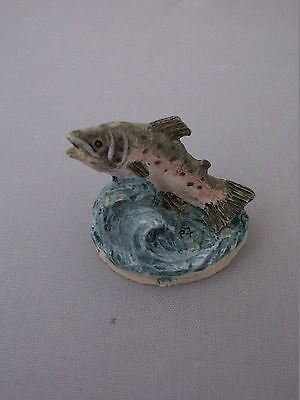 LEAPING SALMON Peter Fagan Colour Box Miniature Collection