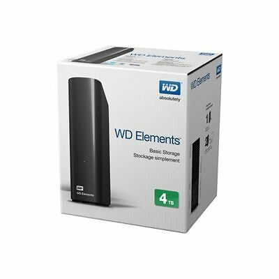 "Western Digital Elements Desktop 4TO Disque dur externe de bureau 3,5"" USB 3.0"