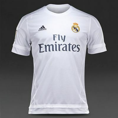 Adidas Real Madrid C.F. 2015-16 Home Shirt Size MB (9-10 Yrs) *NEW* 140cm