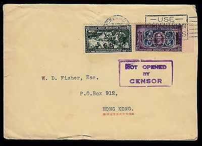 Hong Kong - cover from NZ with 'Not Opened by Censor' marking