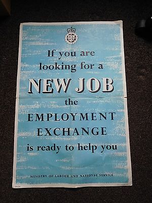 Ministry Of Labour And National Service - 'NEW JOB' Information Vintage Poster