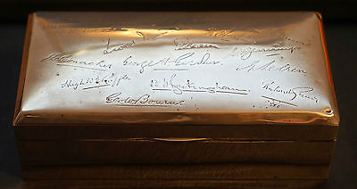 Sterling Silver 1915 Cigar Box Military Gifted To Lieut Trm Clark Sign Engraved