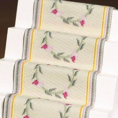 Pink Rose Stair Carpet, Dolls House Miniature, Hall Stairs Carpet, Miniatures