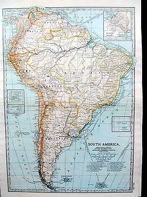 SOUTH AMERICA. - ANTIQUE MAP - PUBLISHED  c.1900