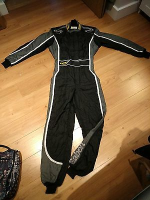 Sabelt Diamond Design Black/Grey Race Suit. FIA Fireproof 3 Layer Nomex Size 56