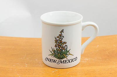 New Mexico Souvenir Collector Coffee Cup Mug - Yucca Flower State Flower