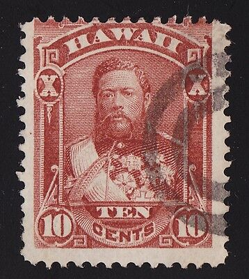 Hawaii Sc #44 Showing A Poinp Rarity 2 Cancel, Only 31-75 Known Strikes
