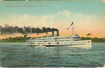 POSTCARD  CANADA  Palace  Steamer  Montreal