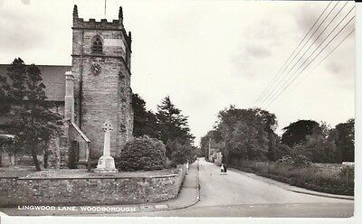 RP Early WOODBOROUGH Lingwood Lane, church house, people