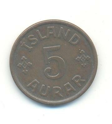 Very Nice Rare.iceland.5.aurar.1926.very Collectable.b.133