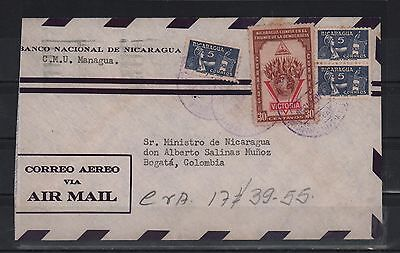 Nicaragua 1955 Cover Managua Bogota Democracy Win Flags Law & Justice Minister