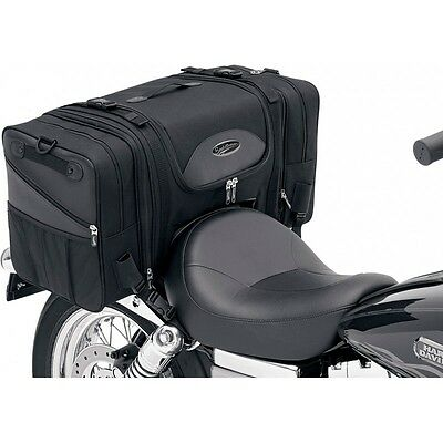 Saddlemen TS3200 Deluxe Cruiser Motorcycle Luggage Rear Tail Bag Pack - Black