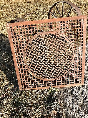 Large Victorian Cast Iron Register Grate 31.5 Square Vent Hardware Heat