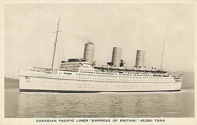 Postcard  Ships  Empress Of Britain