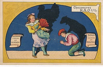 POSTCARD  ADVERTISING   FRANCE  Chaussures  RAOUL