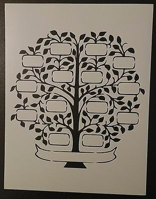 "Family Tree 8.5"" x 11"" Custom Stencil FAST FREE SHIPPING"