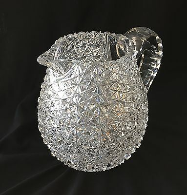American Brilliant Cut Glass Jug or Pitcher