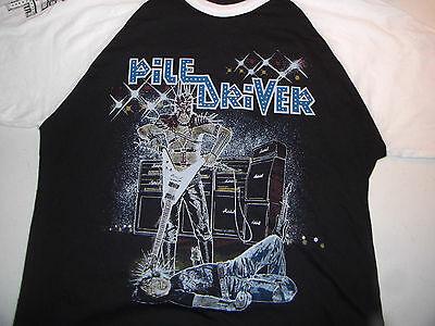 Piledriver Metal Inquisition Baseball Jersey Shirt Rare 80's razor exciter death