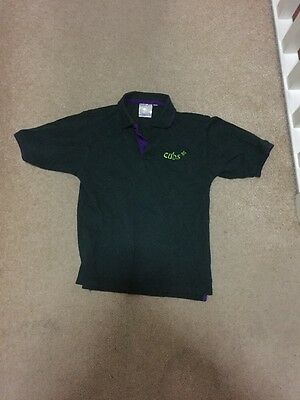 """Cubs Polo Shirt Size 30"""" 9/10 Years"""
