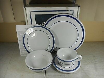 Nautica Signature Tableware Navy Blue 5 Piece Place Setting in Box Portugal (3)