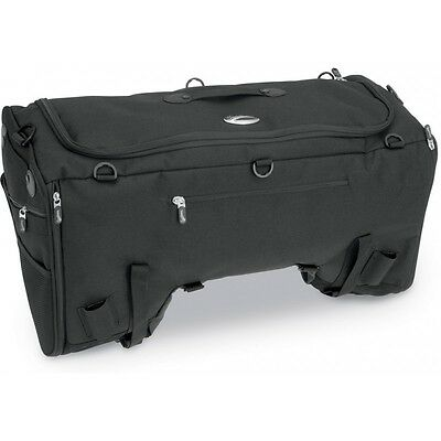 Saddlemen TS3200 Deluxe Sport Motorcycle Luggage Rear Tail Bag Pack - Black