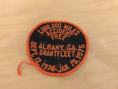 trucking patch,GRANTFLEET ALBANY,GA,1,000,000 MILES ACCIDENT FREE, 1975