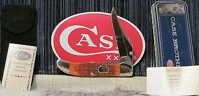 Rare 2003 New/mint Usa Case Xx 61265Lc Ss Chestnut Bone Mid Folding Hunter Knife