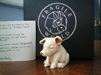Harmony Kingdom MPs Fragile World White Sleeping Pig Event Pc LE 44 RARE