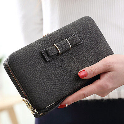 Women Lady Leather Wallet Purse Long Handbag Clutch Bags Phone Card Coin Holder