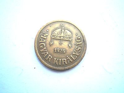 Early 2 Filler Coin From Hungary -Dated 1928-Nice