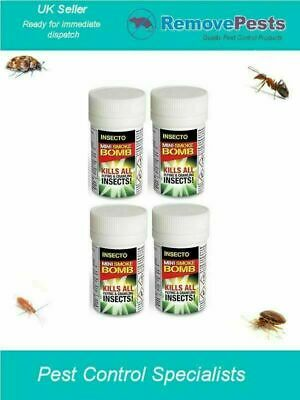 4 x Mini ant, spider, woodlice killer fumers bomb bedbug  insecto