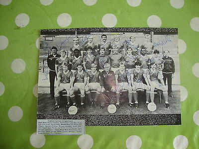 Barnsley Multi Signed Team Picture c1985