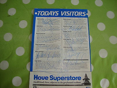 Oldham Athletic Signed Pen Pictures Page 1980's