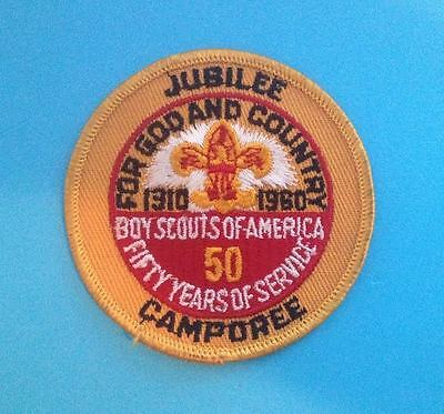 Rare 50 years of Service BSA Boy Scouts of America Jubilee 1960 Patch Crest