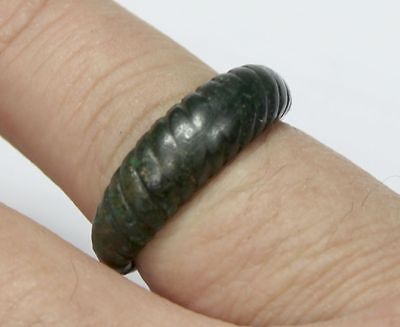 Viking Twisted bronze finger ring GREAT CONDITION