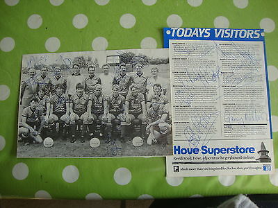 Plymouth Argyle Multi Signed Team Picture and Pen Pictures Page 1980's