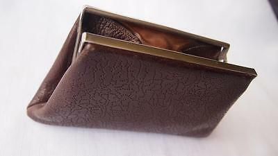 Vintage Leather Ladies Purse - Punched Leather Pattern (great condition)