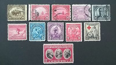 United States America 1930`s issues selection - mainly mint hinged +used hinged.