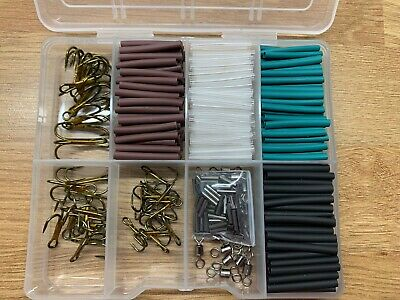 33lb Pike & Game Fishing Trace Making Kit.300 Pieces + a 10 Section Tackle Box.