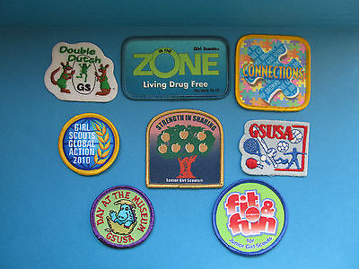 8 Lot of Girl Scouts Badges Patches GSUSA BSA BSC WSB Merit Camp #8