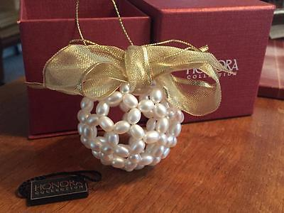 HONORA COLLECTION Cultured Freshwater Pearl Snowball Ornament EUC