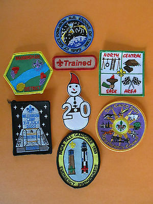 8 Lot of Boy Scouts Badges Patches Beaveree Camporee BSA BSC WSB Merit Camp #21