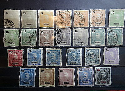 FUNCHAL Portugal 1897-1905 Stamps Set / LOT - Used / Mint - VF - r24e3614