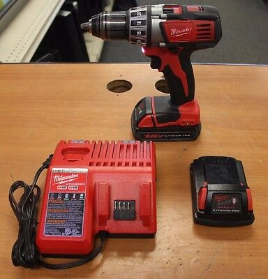"Milwaukee ½"" Driver Drill 2601-20 w/ Charger & 2 Batteries"