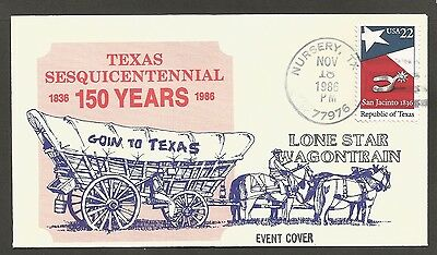 Us Event Cover 1986 Going To Texas Lone Star Wagontrain Nursery Tx D Phillips
