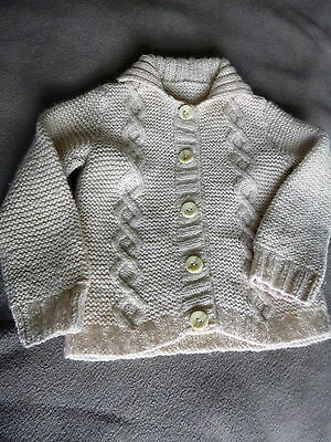Vintage aran boys/girls knitted jacket, age